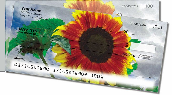 Bulone Bloom Side Tear Personal Checks