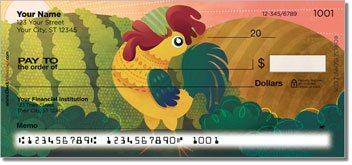 Cartoon Rooster Checks
