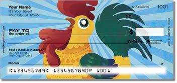 Cartoon Rooster Design Checks