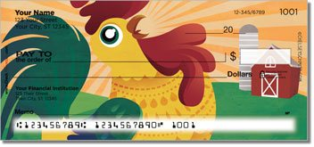 Cartoon Rooster Personalized Checks