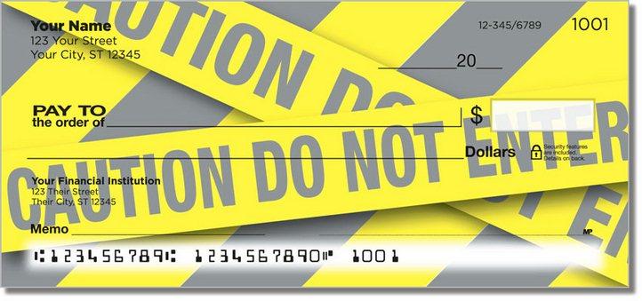 Caution Tape Personal Checks