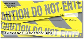 Caution Tape Personalized Checks
