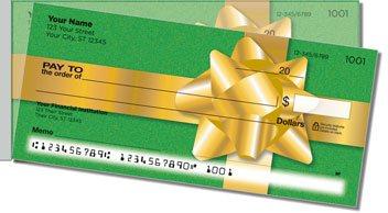 Christmas Bow Side Tear Personalized Checks