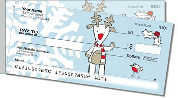 Christmas Doodle Side Tear Personalized Checks
