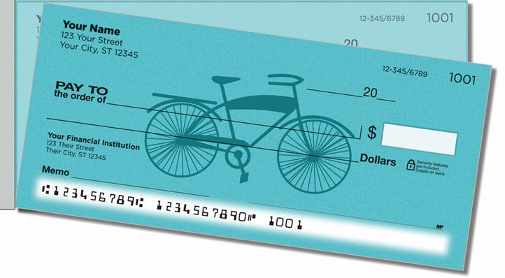 Classic Bicycle Side Tear Personal Checks