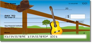 Country Music 2 Personalized Checks
