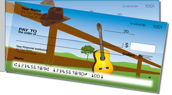 Country Music Side Tear Personalized Checks