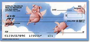 When Pigs Fly Personal Checks