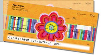 Fanciful Flower Side Tear Personalized Checks