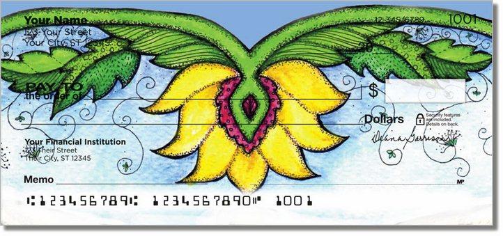 Flower Garden Personal Checks