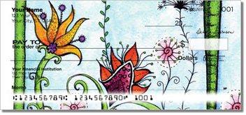 Flower Garden Personalized Checks