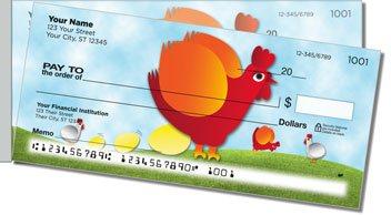 Funky Chicken Side Tear Personalized Checks
