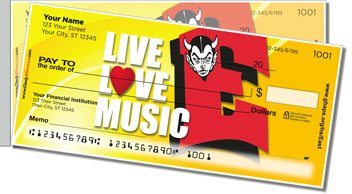 Green Bay East Music Side Tear Personalized Checks