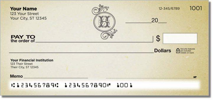 H Monogram Personal Checks