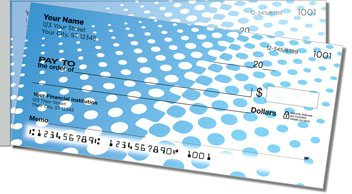 Halftone Side Tear Personalized Checks
