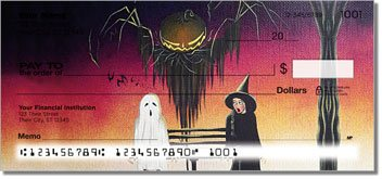 Halloween Art Personalized Checks