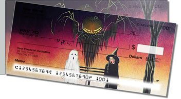 Halloween Art Side Tear Personalized Checks