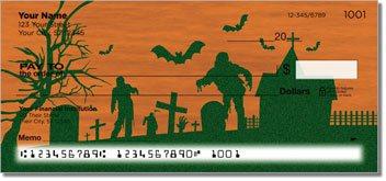 Halloween Graveyard Personalized Checks