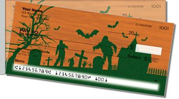 Halloween Graveyard Side Tear Personalized Checks