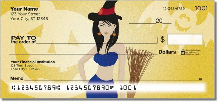 Halloween Hottie Personal Checks