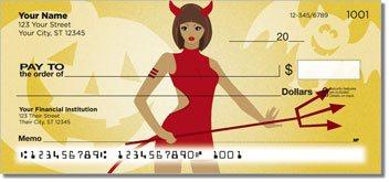 Halloween Hottie Personalized Checks