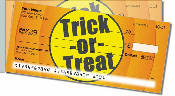 Halloween Side Tear 2 Personal Checks