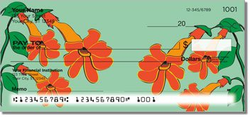 Hanging Flower Personalized Checks