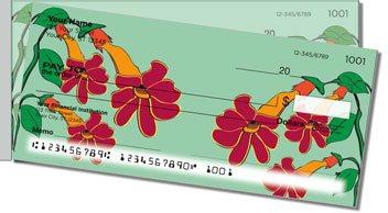 Hanging Flower Side Tear Design Checks