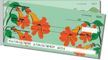 Hanging Flower Side Tear Personalized Checks