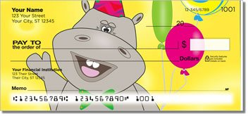 Happy Hippo Personalized Checks
