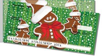 Happy Holidays Side Tear 2 Personalized Checks