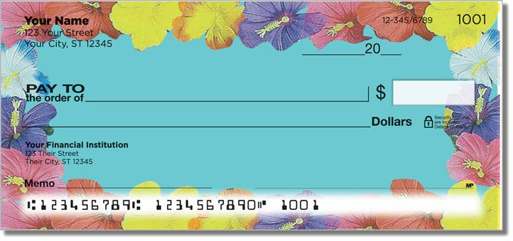 Hawaiian Lei Personal Checks