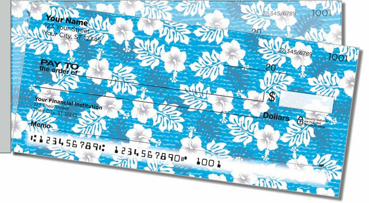 Hawaiian Print Side Tear Personal Checks