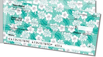 Hawaiian Print Side Tear Design Checks