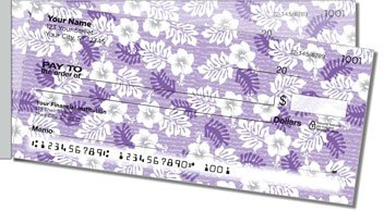 Hawaiian Print Side Tear Personalized Checks