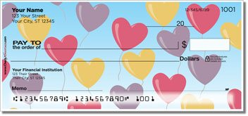 Heart Balloon Personalized Checks