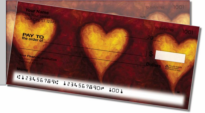 Heart of Gold Side Tear Personal Checks