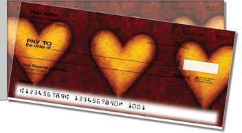 Heart of Gold Side Tear Personalized Checks