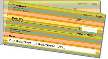 Horizontal Stripe Side Tear Personalized Checks