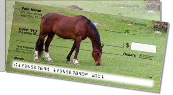 Horse Side Tear Personalized Checks