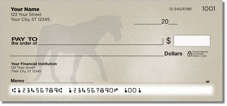 Horse Silhouette Personal Checks