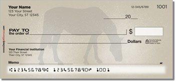 Horse Silhouette Personalized Checks