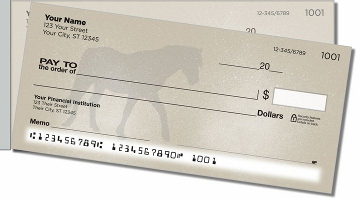Horse Silhouette Side Tear Personal Checks
