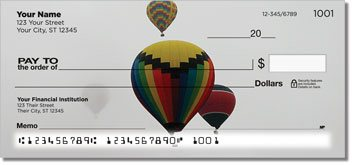 Hot Air Balloon Personalized Checks
