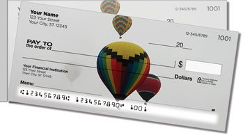 Hot Air Balloon Side Tear Personalized Checks