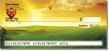 Hot Air Balloon View Personalized Checks