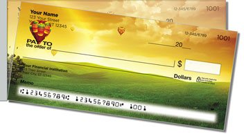 Hot Air Balloon View Side Tear Personalized Checks