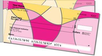 Hot Pink Curve Side Tear Design Checks