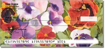 Kay Smith Pansies Personalized Checks