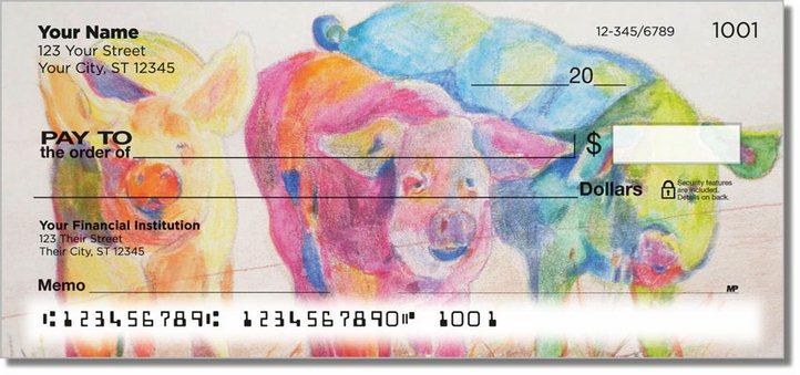 Kay Smith Pig Personal Checks